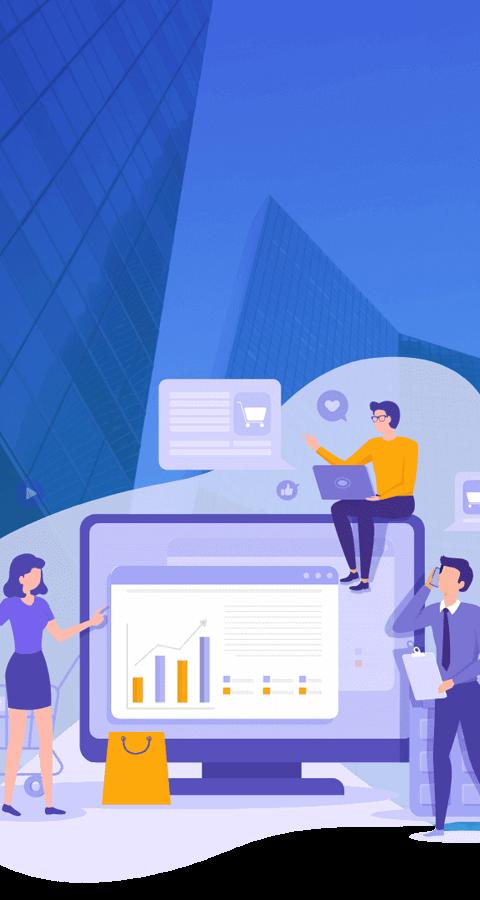 Conjunto de plataformas integradas de E-commerce, Marketplace, Inteligência Analítica, Automação de Audiências e Cashback, com versões B2C e B2B.